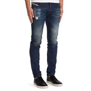 NEW Diesel Men's Distressed Sleenker Slim Leg Jean 0833f SIZE: 33 x 32