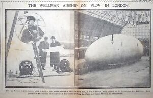 Two issues of the Daily Sketch with reports of Wellman Arctic expedition, 1909