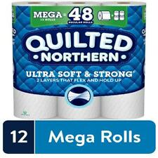 Quilted Northern Ultra Soft & Strong Toilet Paper, 12 Mega Rolls = 48 Regular