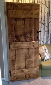 OLD WORLD ~ SOLID LEDGED DOORS ~ RUSTIC ~ MADE TO MEASURE 45MM THICK