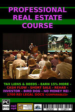 THE ULTIMATE IN REAL ESTATE TRAINING - PRO REAL ESTATE COURSE - REI,  PC - DVD