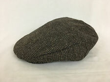 Adam New York Newsboy Cabbie Hat Tweed Gray and Brown Size Large 7-1/4 to 7-3/8