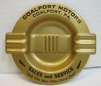 PACKARD Sales Service Old Tray Ashtray COALPORT MOTORS Pa Card Tip Auto Dealer