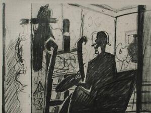 Georges BRAQUE : L'atelier du peintre - GRAVURE signée, 1950