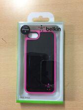 iPhone 5 5S Case Belkin Grip Max Shock Proof Black/Pink TPU Sleeve Cover