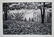 SIGNED N. JAY JAFFEE Photo: UN Esplanade, NYC women/foliage 1971 (photos w/MOMA)