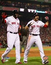 2013 World Series Champs DAVID ORTIZ & JACOBY ELLSBURY Boston Red Sox 8x10 photo
