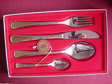 WMF Alexandria Cromargan Partially Gold Plated NIP Table Cutlery a Person