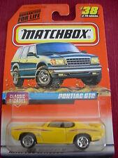 Matchbox Pontiac GTO #38 from 1997 Yellow