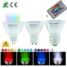 Cambio de 16 Colores MR16 GU10 E27 RGB LED Control Remoto IR Bombillas Spotlight