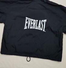 Women's EVERLAST Black Hooded Zipper Up Windbreaker Jacket Size Small S
