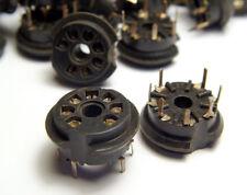 10x Fassung f. 7-pol PICO Miniatur-Röhren, Printmontage, Kelchfeder-Kontakte