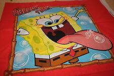 Sponge Bob Squarepants Toddler Pillow Quilt Fabric 4 Panels Spongebob Red Panel