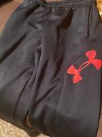 Boys Under Armour Sweatpants Size Large Black