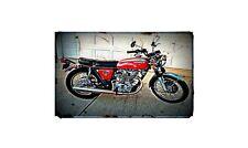 1972 honda cb450 k5 Bike Motorcycle A4 Retro Metal Sign Aluminium