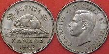 Extra Fine 1942 Canada 5 Cents