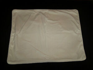 Pottery Barn Standard Pillow Sham Cream Velvet Zipper Closure