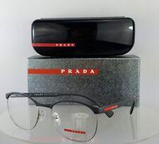 Brand New Authentic Prada Sport Eyeglasses VPS 50I TFZ-1O1 Dark Grey Frame