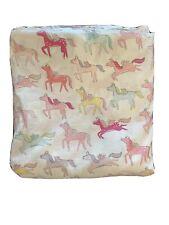 Pottery Barn Queen Size Flat Sheet Princess Pegasus Pink Pony