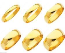Solid 10K Yellow 100% Gold 3mm 4mm 5mm 6mm Comfort Men Women Wedding Band Ring