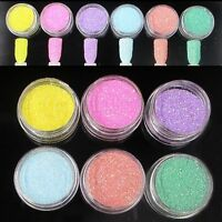 6 Colors/set Dust Manicure Decoration Chrome Pigment Nail Art Glitter Powder