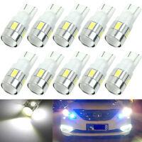 10x White T10 W5W 5630 6-SMD LED Car Wedge Side Light Bulb Lamp 168 194 192 158