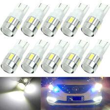 10PCS T10 W5W 5630 6-SMD LED Car Side Light Bulb Wedge Lamp 168 194 192 158White