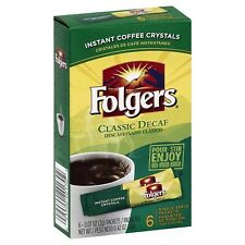 3 Boxes - Folgers Classic Decaf Instant Single Serve Packets - FREE SHIPPING!