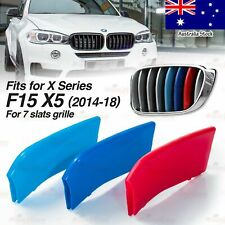 M-Power 7 BARS Kidney Grille 3 Color Cover Insert Clips fits BMW X5 F15 2014-18