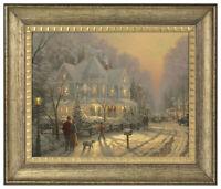 Thomas Kinkade Holiday Gathering 16 x 20 Brushstroke Vignette (Choice of Frame)