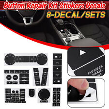 For 04-09 VW Touareg Button Repair Decal KIT A/C Radio Climate Steering Window