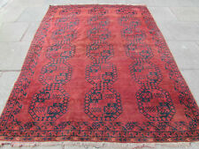 Antico Afgano Tradizionale Fatto a Mano Orientale Tappeto rosso scolorito 271x204cm