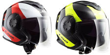 CASCO HELMET KASK JET LS2 OF570 VERSO TECHNIK BLACK WHITE RED / BLACK YELLOW