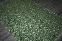 Persian Turkish Afghan Vintage Kilim Rug Cotton Block Print Bohemian Hand-Made