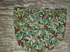 Longaberger American Holly Fabric Tall Tissue Basket Liner MINT FREE SHIPPING!