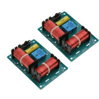 2Pcs 80W 2Way Frequency Divider Speaker Audio Crossover Filter Board
