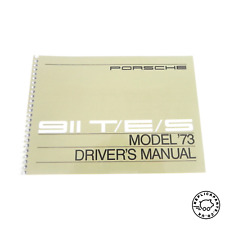PORSCHE 911 S 1967 Driver/'s Manuale del proprietario WKD460720