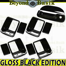 1999-2007 Superduty 4DR GLOSS BLACK Door Handle Covers 2KH + Tailgate Cover w/KH