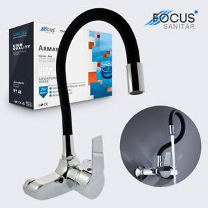 Küchenarmatur Wandmontage Mischbatterie Küche Wasserhahn flexibler Auslauf