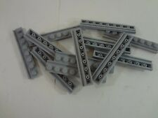 New LEGO lot of 12 Light Blueish Gray Plate Modified 1x8 w door Rail
