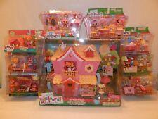 Mini Lalaloopsy Pink So Sweet Playhouse w/ 8 playsets-NEW