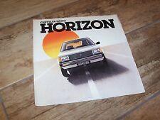 Prospectus  /  Brochure TALBOT Horizon 1978 //