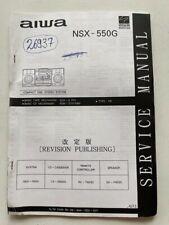 NSX-550G original AIWA HI-FI Anlage Service Manual