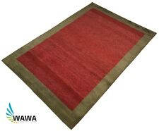 Gabbeh Orient Teppich 120x180 Cm handgeknüpft 100 wolle rot