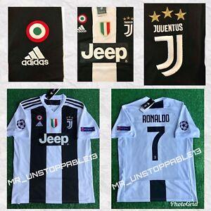 ADIDAS ☀︎ Juventus  ☀︎ Cristiano Ronaldo ☀︎Champions League Patches ☀HOME JERSEY