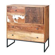 Commode buffet console à tiroirs meuble de salon salle a manger design manguier