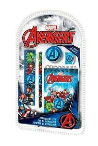 Licensed Disney Character Marvel Avengers School Kid Stationery Set 5Pcs Gift 3+