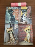 Colonial Studios 1970s CATS vintage RARE complete set of 4 in ORIGINAL CONTAINER