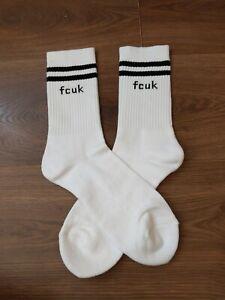 Pair Of White Mens Fcuk Socks