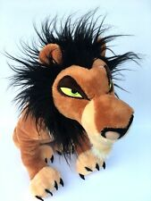 "Disney Store Scar Lion King  Plush 17"" Stuffed Animal Villain Authentic"